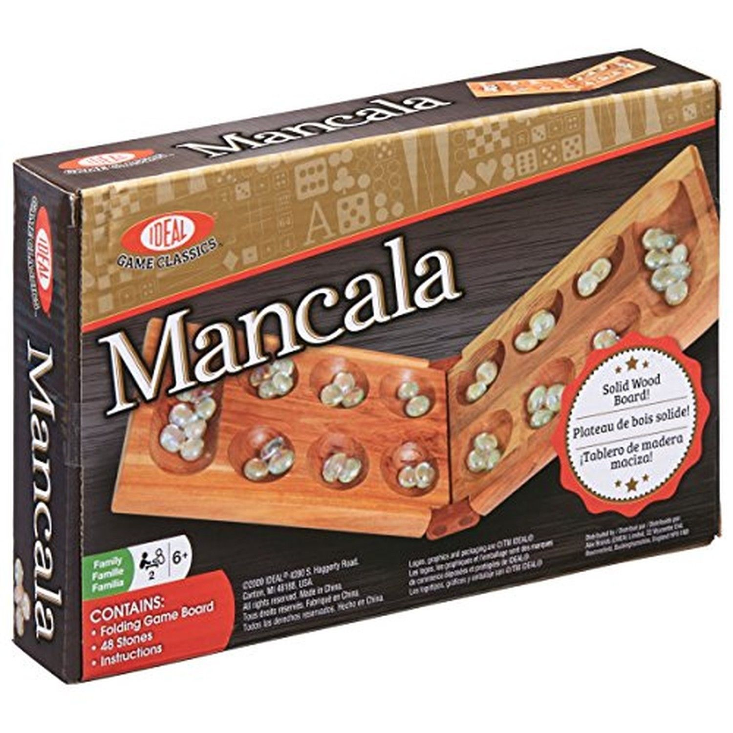 Ideal Classic Mancala Board Game [New]