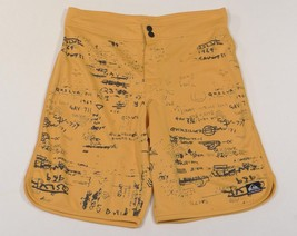 Quiksilver Quikdry Moisture Wicking Mustard Yellow Shorts Mens NWT - $37.49