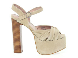 Heeled sandal JEFFREY CAMPBELL DONNAS in meat suede leather - Women's Shoes - £58.50 GBP