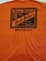 San Miguel Beer on a Orange Extra Large (XL) tee shirt - $23.00