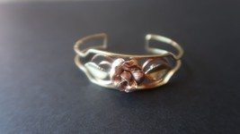Vintage KREMENTZ Flower Cuff Bracelet 2 1/8 inner diameter - $39.59