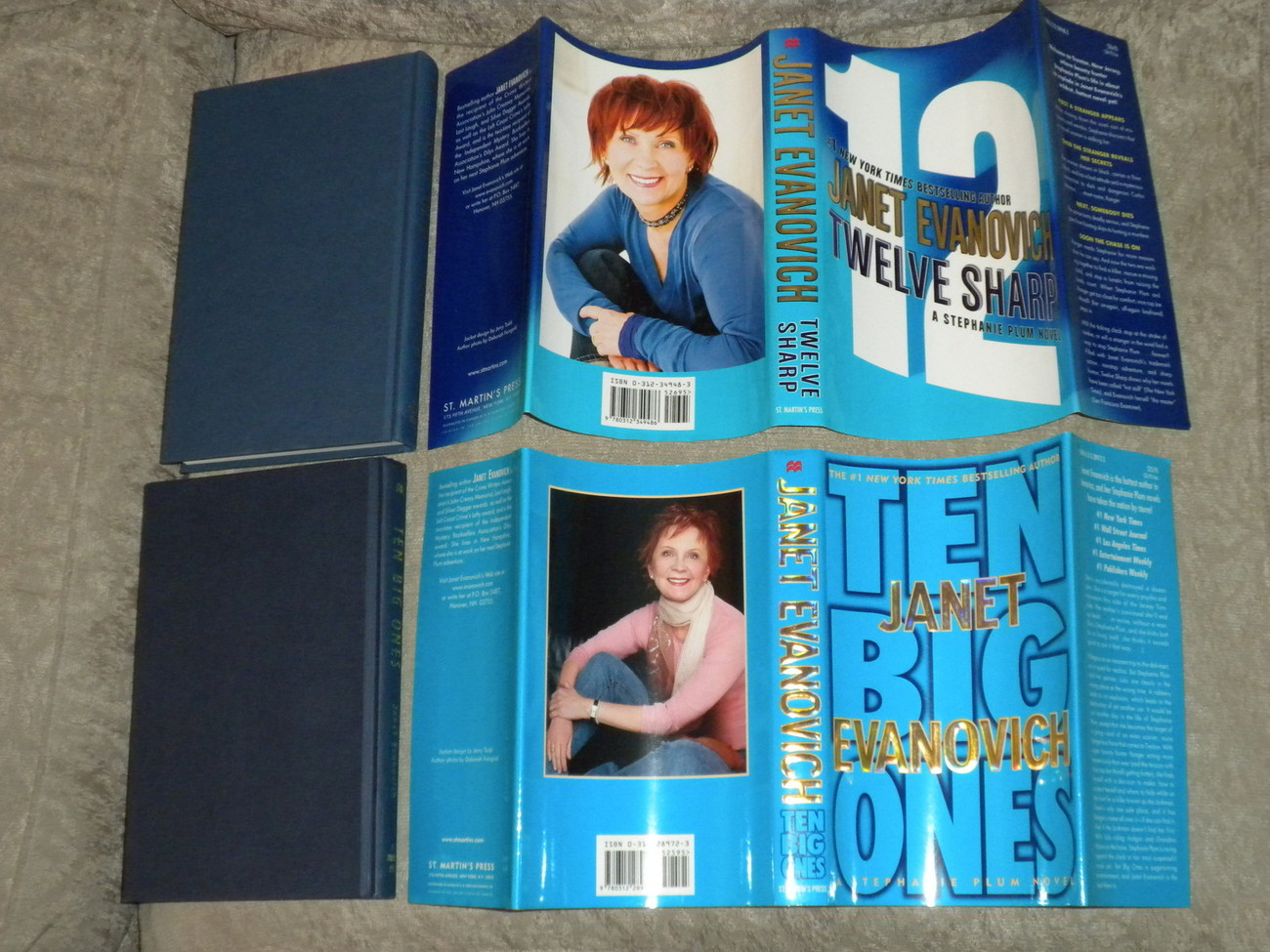 Primary image for Janet Evanovich Lot of 2 HC w DJ, all 1st Ed & NF/NF: Twelve Sharp,Ten Big Ones