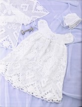 2 Exquisite Christening Sets to Crochet & Knit Pattern Leaflet - $39.99