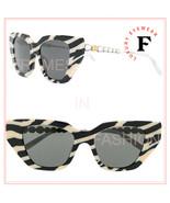 GUCCI STAR 0641 Silver Zebra Print Crystal Cat Eye Runway Sunglasses GG0... - $393.62