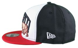 Dissizit New Era Fitted 59Fifty white/red/black Collegiate CALI Bear Hat Cap image 5