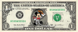 MICKEY MOUSE Proposing on a REAL Dollar Disney Cash Bill Money Collectib... - $8.88
