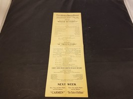 1900s Providence Opera House Flyer For Madam Butterfly And Il Trovatore ... - $8.65