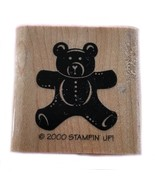 Rubber Wood Stamp Stamping Crafting Stampin Up Solid Teddy Bear Baby Shower - $9.89