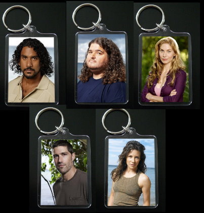 Primary image for LOST keychain party pack PICK ANY 5 KEYCHAINS