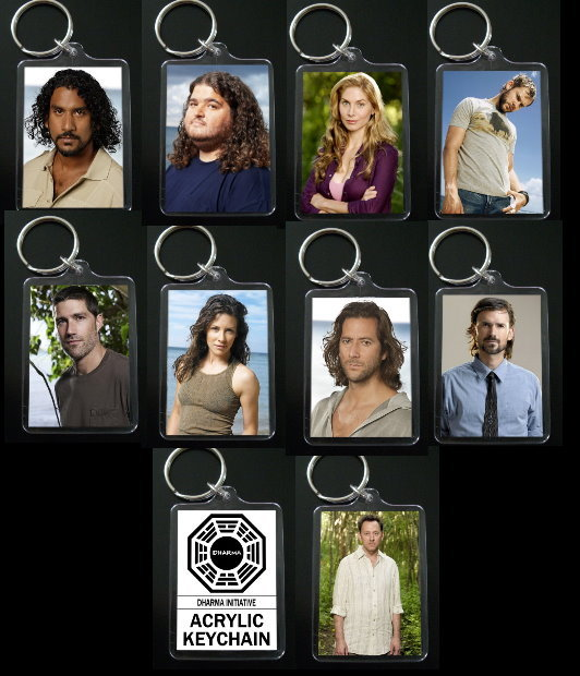 Primary image for LOST keychain party pack PICK ANY 10 KEYCHAINS
