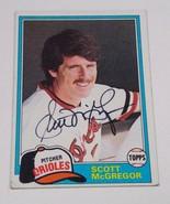 1981 Topps Baltimore Orioles Scott McGregor Autographed Card - $2.50
