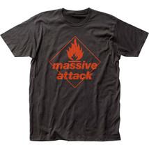 Massive Attack-Red Logo-X-Large Black  T-shirt - ₹1,454.40 INR