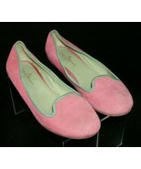 Cole Haan 'Air Morgan' pink nubuck suede round toe slip on smoking flats... - $33.30