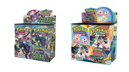 Pokemon TCG Sun & Moon Cosmic Eclipse + Ancient Origins Booster Box Bundle - $219.99