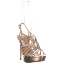 Nina Solina Strappy Platform Stiletto Sandals, Light Platino, 7 US / 37 EU - $46.07