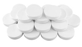 White Plastic Standard Mason Jar Plastic Lids 24 Lids Regular Mouth Storage - $12.13
