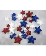 Lot of (30) Patriotic 4th of July Glitter Stars Decorations Bowl Basket ... - $16.99