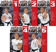 5 DVD SET Japanese Shotokan Karate Do - Kiyoshi Yamazaki 8th Dan Ryobukai - $125.00