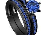 Tigrade 8mm mens black tungsten carbide ring engagement thin blue 1 thumb155 crop