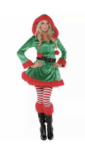 Sassy Elf Costume for Women Christmas Holiday Parties w/Accessories 4pcs New SzL - $34.34