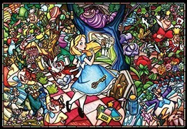 Tenyo(DP-027)Disney Stained Glass Alice in Wonderland Jigsaw Puzzle 1000 Piece - $44.39