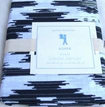 Pottery Barn Kids Ikat  Asher Gray Grey Black White Standard pillow SHAM... - $25.38