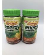 2 Emergen-C Energy + Plus Gummies Orange Zest 11/2020 Natural Caffeine G... - $52.20