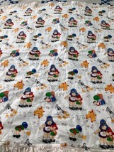 "BONNET KIDS Panel Quilt Blanket Ducks Polka Dot Ruffle 45"" Square - $38.61"