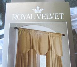 "GRAY Traditional Pleated Scalloped ""Royal Velvet"" Valance 54"" x 20"" #20104 - $14.99"