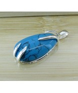 Turquoise Silver Pendant Necklaces - $15.00