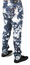 Versace Jeans Blue Bleached Denim White Paint Orange Speckle XXX Pants NWT image 3