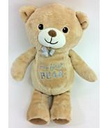 Garanimals My First Teddy Bear Tan Brown Silver Bow Plush Stuffed Animal... - $23.21