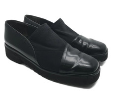 Paul Green Munchen Womens Black Stretch Loafers Slip On Vibram Sole Size 9 - $42.08