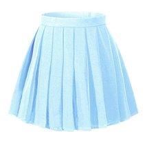 Girl's Dance costume Pleated Flared Skirts (XS,light blue) - $479,44 MXN