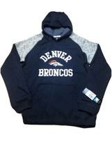 NFL Team Apparel Denver Broncos Hoodie Youth Size Large 14/16 Gray & Navy - $24.74