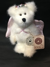 "BOYDS BEARS Astoria Angelwish Plush White Ornament Teddy Bear Jointed Wings 6"" - $24.99"
