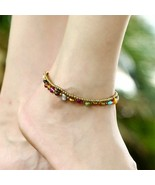Anklets For Women Boho Beads Pearls Starfish Charms Bracelets Bohemian H... - $8.40