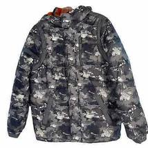 F.O.G. By London Fog Black Brown Boys Full Zip Hooded Puffer Coat Size L... - $18.81
