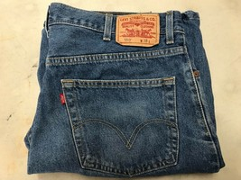 LEVI'S  550 RELAXED FIT Size 38 W-37, INS-9 Blue 100% COTTON JEAN SHORTS - $19.77