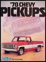 1978 Chevy Chevrolet Pickup Truck Brochure MINT ORIG! - $8.31