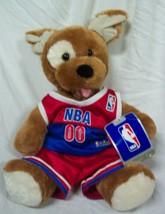 """BUILD-A-BEAR Barking Puppy Dog In Nba Basketball Jersey 14"""" Stuffed Animal New - $24.74"""