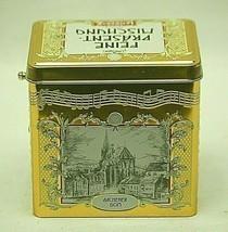 Aachen Lambertz German Christmas Cookie Tin Music Box Plays Jingle Bells... - $29.69