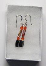 Hematite Earrings - Red Crystal, Cloisonne Earrings - $12.99