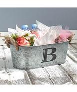 Galvanized Monogram Bucket B  - $13.65