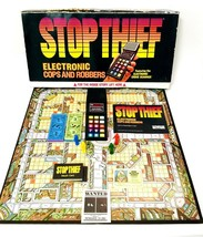 Stop Thief Game Vtg 1979 Parker Brothers Electronic Cops + Robbers Board Game - $26.24