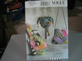 Vogue B Randle V8375 Fabric Quilted Handbags Pattern - 9 X 8.5 - 9 X 11 ... - $12.86
