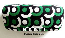 Vera Bradley Hard Clamshell Eyeglass Sunglass Case Imperial Rose Dots NWOT - $29.00