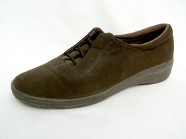 Grasshoppers Sneakers Women's 7½M Stretch Brown Faux Suede Excellent Condition - $21.53