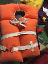 Orange Cloth Adult Life Jacket Vest Type I Buoyant - Model AK-I - Vintage - $39.99