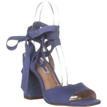 Steve Madden Kenny Ankle Strap Sandals, Blue Nubuck, 6.5 US - $38.39